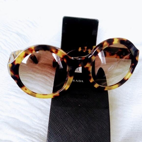 be6e4b67a20e Prada Havana Medium SPR06Q Sunglasses